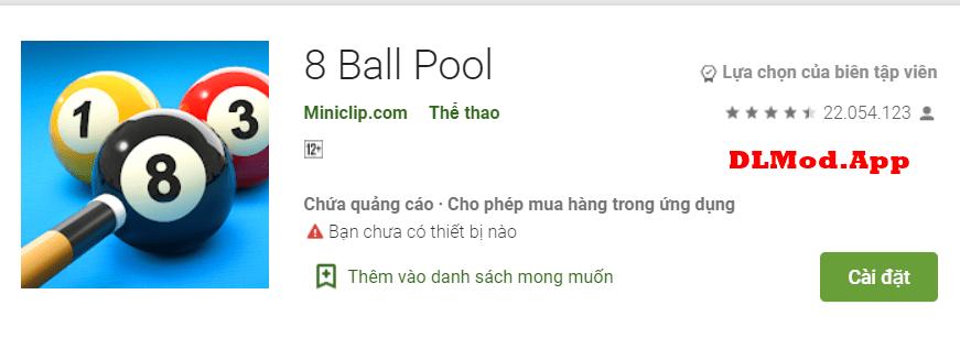 8 Ball Pool Mod full tiền apk