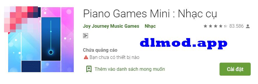 piano games mini mod vô hạn tiền